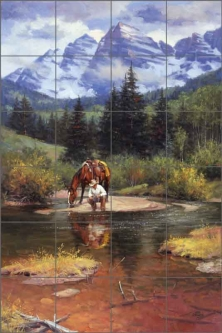 High Lonesome by Jack Sorenson Ceramic Tile Mural RW-JS045