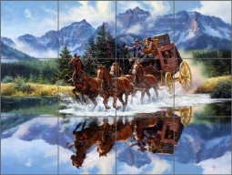 The Shortcut by Jack Sorenson Ceramic Tile Mural RW-JS050
