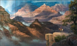 South Rim of Heaven by Jack Sorenson Ceramic Tile Mural RW-JS056