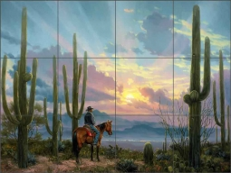 Desert Song by Jack Sorenson Ceramic Tile Mural RW-JS058
