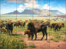 Spirit of the Plains by Jack Sorenson Ceramic Tile Mural RW-JS060