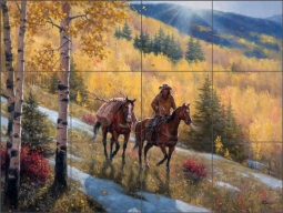 The Glow of Indian Summer by Jack Sorenson Ceramic Tile Mural RW-JS061