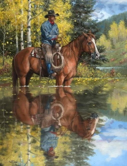 A Good Place to Stop and Reflect by Jack Sorenson Ceramic Accent & Decor Tile RW-JS063ATCS