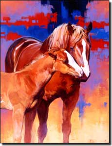 "Chapman Horses Equine Ceramic Accent Tile 6"" x 8"" - RW-JTC001AT"
