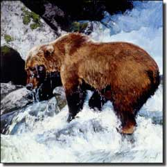 "Chapman Bear Animal Ceramic Accent Tile 4.25"" x 4.25"" - RW-JTC005AT"