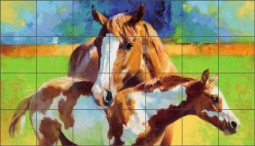 Morning Colors by Julie T Chapman Ceramic Tile Mural RW-JTC006