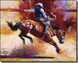 "Chapman Cowboy Rodeo Ceramic Accent Tile 10"" x 8"" - RW-JTC011AT"