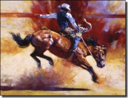 "Chapman Cowboy Rodeo Ceramic Accent Tile 8"" x 6"" - RW-JTC011AT"