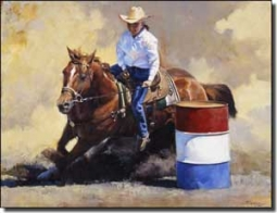 "Chapman Cowboy Rodeo Ceramic Accent Tile 8"" x 6"" - RW-JTC012AT"