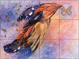 On Gossamer Wings by Kathy Morrow Ceramic Tile Mural - RW-KM004