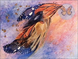 On Gossamer Wings by Kathy Morrow Ceramic Accent & Decor Tile - RW-KM004AT