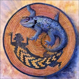 Tail Spin by Kathy Morrow Ceramic Accent & Decor Tile - RW-KM013AT
