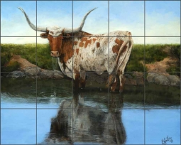 Cool Clear Water by Kathy Winkler Ceramic Tile Mural RW-KW002