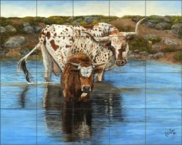 Someone to Watch Over Me by Kathy Winkler Ceramic Tile Mural RW-KW013
