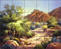 Desert Beauty by Maxine Johnston Ceramic Tile Mural RW-MJA004