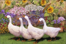 Garden March by Marcia Matcham Ceramic Tile Mural - RW-MM008