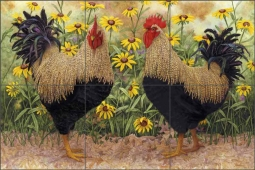 Peck and Wadsworth by Marcia Matcham Ceramic Tile Mural RW-MM014