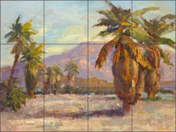 Desert Warrior by Nanette Oleson Ceramic Tile Mural - RW-NO002