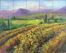 Fall Vineyard by Nanette Oleson Ceramic Tile Mural RW-NO007
