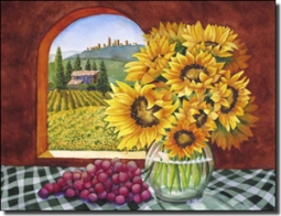 "Hoyle Tuscan Landscape Ceramic Accent Tile 8"" x 6"" - RW-SH014AT"