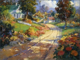 A Crisp Autumn Day by Steve Songer Ceramic Tile Mural - RW-SSA001