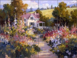 Garden Pathway by Steve Songer Ceramic Tile Mural - RW-SSA003