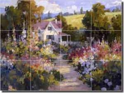 "Songer Country Landscape Glass Tile Mural 24"" x 18"" - RW-SSA003"