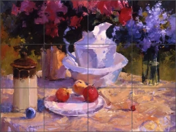 Still Life with Pitcher by Steve Songer Ceramic Tile Mural - RW-SSA010