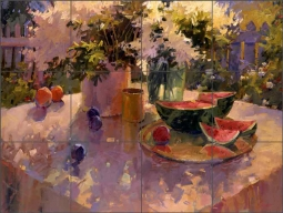 Summer Still Life by Steve Songer Ceramic Tile Mural - RW-SSA011