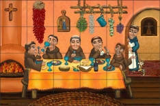 San Pascual's Table II by Victoria de Almeida Ceramic Tile Mural - RW-VAA007