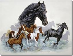 "Forget Horse Equine Ceramic Accent Tile 8"" x 6"" - RW-VFA004AT"