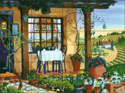 A Taste of Wine Country by Robin Wethe Altman Ceramic Tile Mural - RWA002