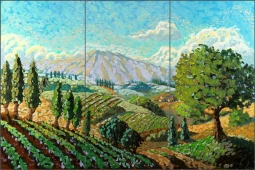 Napa Valley by Robin Wethe Altman Ceramic Tile Mural - RWA008