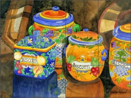 Biscotti by Robin Wethe Altman Ceramic Tile Mural RWA026