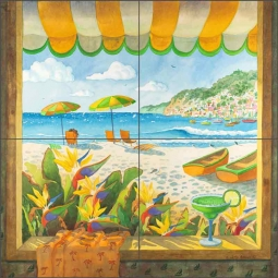 Afternoon Delight by Robin Wethe Altman Ceramic Tile Mural RWA028