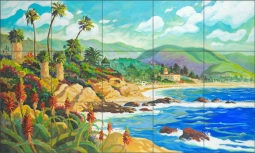 In Love with Laguna by Robin Wethe Altman Ceramic Tile Mural RWA032