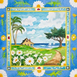 A Cottage by the Sea by Robin Wethe Altman Accent & Decor Tile RWA037AT