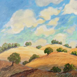 Acrylic Hills by Robin Wethe Altman Accent & Decor Tile RWA038AT