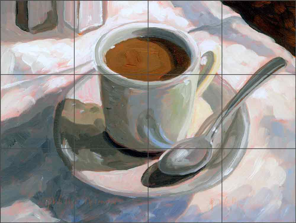 Coffee by Robin Wethe Altman Ceramic Tile Mural RWA052