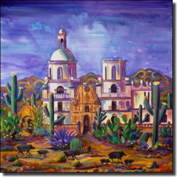 Libby San Xavier Mission Ceramic Accent Tile - SLA007AT
