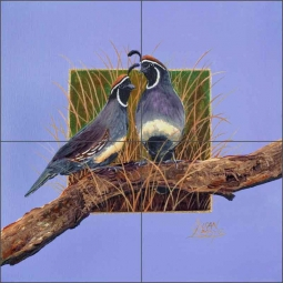 Grassland Duo by Susan Libby Ceramic Tile Mural - SLA029