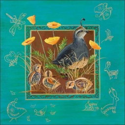 Morning Stroll by Susan Libby Ceramic Accent & Decor Tile - SLA030AT