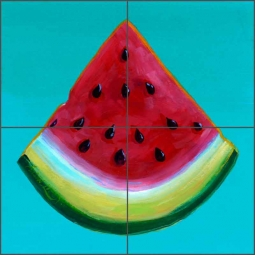 Summer Melon by Susan Libby Ceramic Tile Mural SLA038