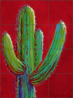 Arizona Beauty by Susan Libby Ceramic Tile Mural SLA040