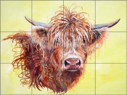 Scotty by Susan Libby Ceramic Tile Mural SLA060