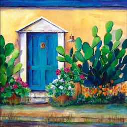 Blue Barrio Door by Susan Libby Accent & Decor Tile SLA066AT