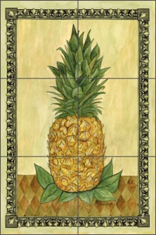Pineapple by Sara Mullen Ceramic Tile Mural - SM007