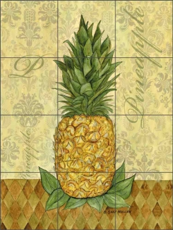 Pineapple - Damask by Sara Mullen Ceramic Tile Mural SM045