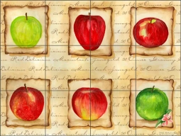 Apples for Friends II by Sara Mullen Ceramic Tile Mural SM047