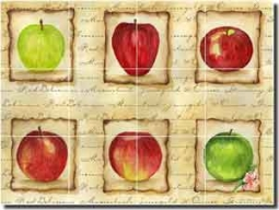 "Mullen Fruit Apple Ceramic Tile Mural 24"" x 18"" - SM047"